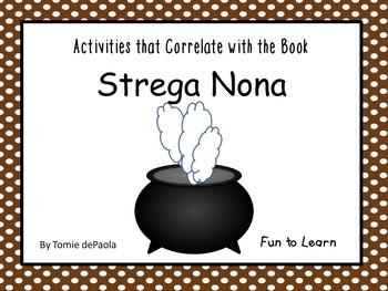 Strega Nona ~ 25 pgs. of Common Core Activities