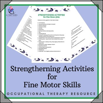 Strengtherning Activities for Fine Motor Skills