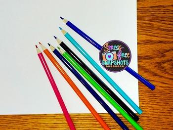 Stress-Free Stock Photo - Colored Pencils