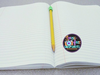 Stress-Free Stock Photo - Pencil and Notebook (3 images)
