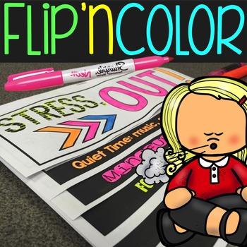 Stress Reduction Flip'n Color Foldable