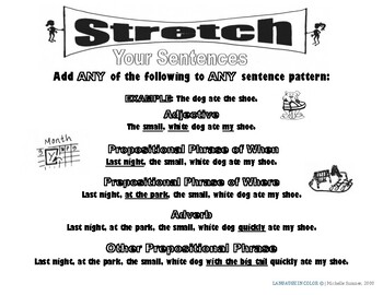 Stretch Your English Sentences (B&W) Advanced