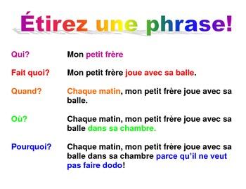 Stretch a Sentence FRENCH poster - étirez une phrase