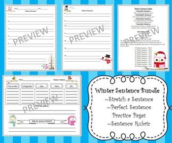 Stretch a Sentence Winter Theme