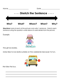 Stretch a Sentence with Picture Prompt