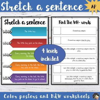 Stretch a sentence - Anchor Chart