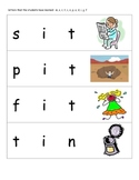 Stretchy the Word Snake cards - Short I