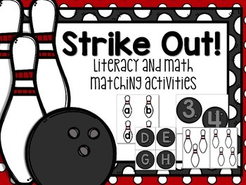 Strike Out! Bowling Themed Letter & Number Match