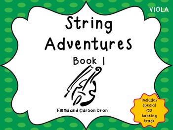 String Adventures Viola Book - A Unique Beginner String Me