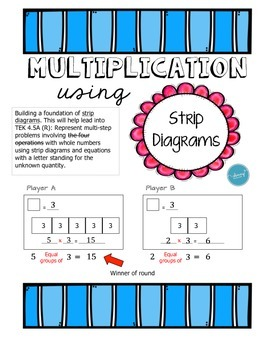 Strip Diagram Multiplication - Dice Game