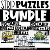Literacy and Math Puzzles EDITABLE {for the year}