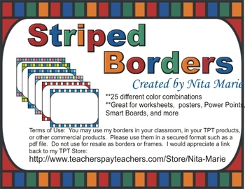 Dollar Deal ~ Striped Border by Nita Marie