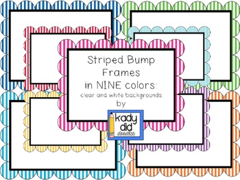Striped Bump Frames in 9 Colors