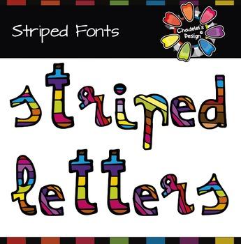 Striped Fonts