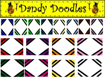 Striped Frames Clip Art by Dandy Doodles