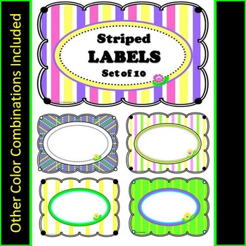 Striped Labels