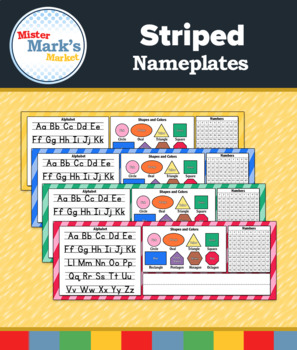 Striped Nameplates