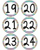 Colorful Striped Number Circles 1-50