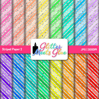 Rainbow Striped Paper {Scrapbook Backgrounds for Task Card