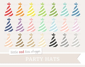 Striped Party Hat Clipart
