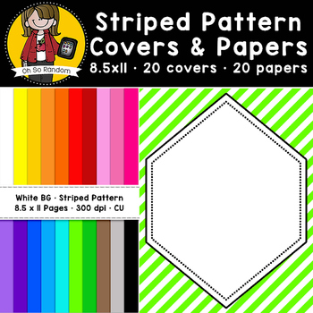 Striped Pattern Covers & Papers (CU)