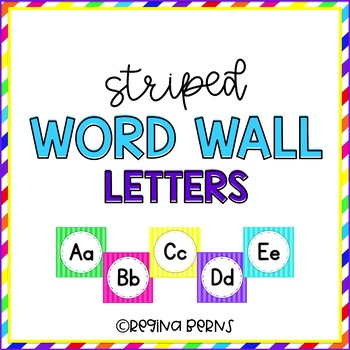 Striped Word Wall Letters
