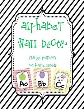 {Stripes} Alphabet Wall Decor