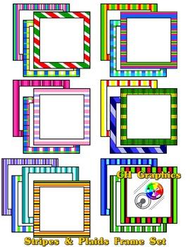 Stripes & Plaids Frame Set