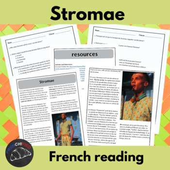 Stromae - a short reading for intermediate students w/ tex