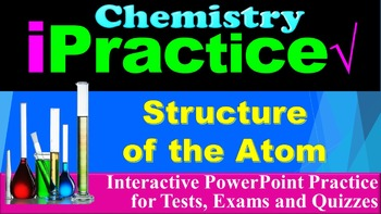 Structure of the Atom: iPractice - Interactive PPT Workshe