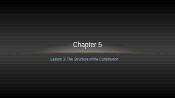 Structure of the Constitution Lecture