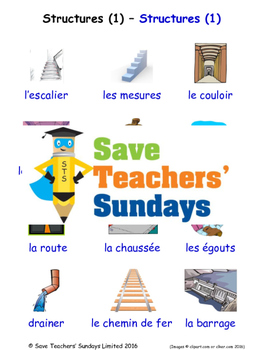 Structures 1 in French Worksheets, Games, Activities and F