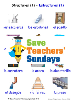 Structures in Spanish Worksheets, Games, Activities and Fl