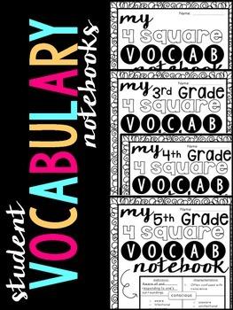 Student 4-Square Vocabulary Notebook