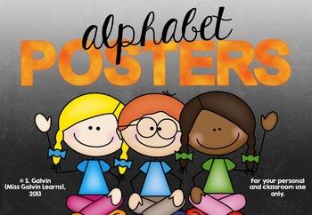 Student Alphabet Posters