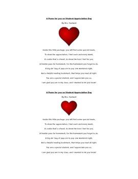 Student Appreciation Day Poem