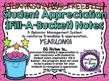 Student Appreciation Thankful For Notes (Freebie)