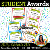 Student Awards Back to School Awesome Digital File Instant