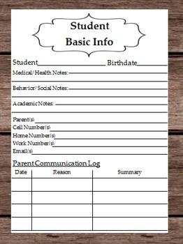 Student Basic Information - Health - Bahavior - Academic N