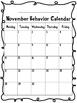 Student Behavior Calendar (Dr. Seuss Font)
