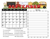 Student Behavior Calendars with Weekends August 2012 - July 2013