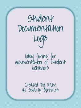 Student Behavior Documentation Log
