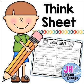 Student Behavior - Think Sheet