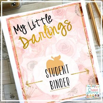 Student Binder - Brilliant Teacher Floral Design