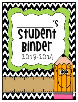 Student Binder Cover Page