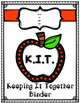 "Student Binder ""K.I.T.""  Editable & Printer Friendly"