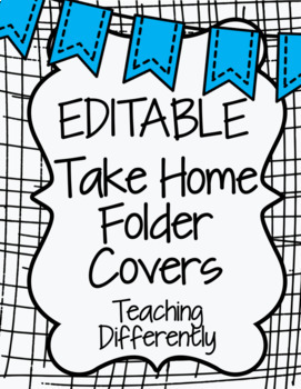 Student Binder & Take Home Folder Covers (w/ Folder Labels