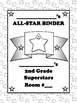 Student Binder or Folder Cover Page - Superstar Theme Mult