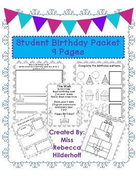 Student Birthday Packet