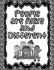Student Writing Book: People are Alike and Different - K C